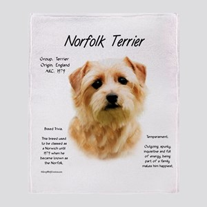 Norfolk Terrier Throw Blanket